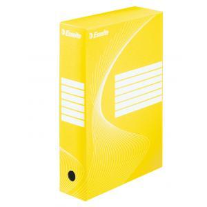 Archívny box Esselte 80mm žltý/biely