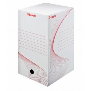 Archívny box Esselte 200mm biely/červený