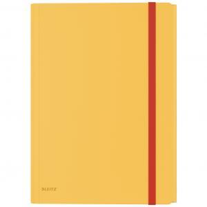 Plastový obal s gumičkou Leitz Cosy hebký s vnútorným vreckom teplý žltý