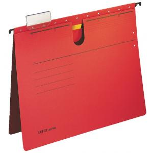 Závesný obal Leitz ALPHA s rýchloviazačom červený