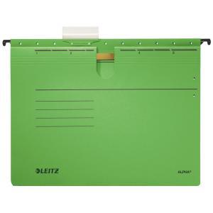Závesný obal Leitz ALPHA s rýchloviazačom zelený