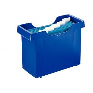 Zásobník na závesné obaly Leitz Plus modrý