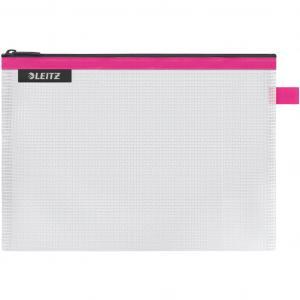 Plastový obal so zipsom Leitz WOW stredný ružový