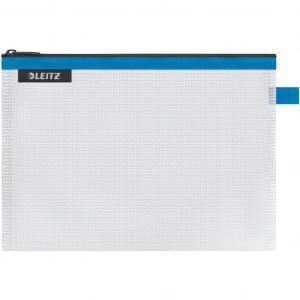 Plastový obal so zipsom Leitz WOW stredný modrý