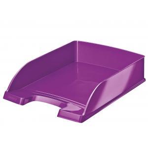 Kancelársky odkladač WOW metalický purpurový