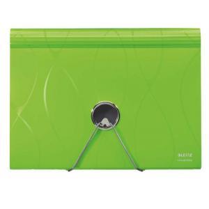 Aktovka plastová s priehradkami Leitz Vivanto zelená