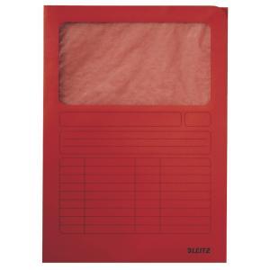 Zakladacie zložky s okienkom Esselte červené