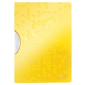 Obal s klipom plastovým Leitz WOW žltý