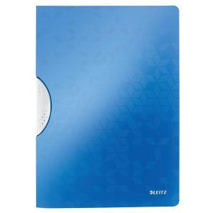 Obal s klipom plastovým Leitz WOW modrý