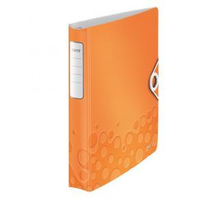 Zakladač 4-krúžkový Leitz Active WOW metalická oranžová