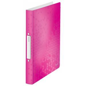Zakladač 2-krúžkový Leitz WOW celoplastový ružový