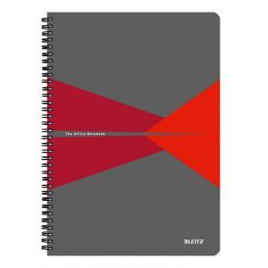 Blok College Leitz Office A5 90 listov linajkový červený