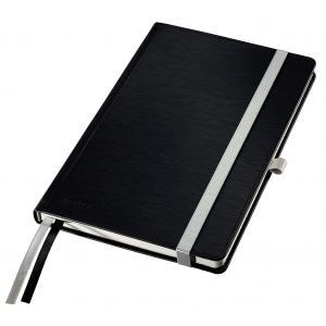 Zápisník linajkový A5 Leitz Style tvrdé dosky saténovo čierny