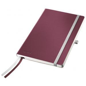 Zápisník linajkový A5 Leitz Style granátový červený