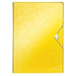 Aktovka plastová s priehradkami Leitz WOW žltá