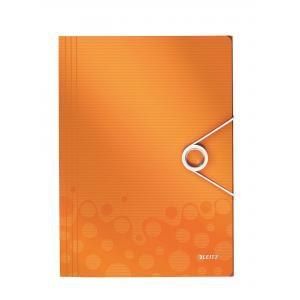 Plastový obal s gumičkou Esselte WOW metalický oranžový