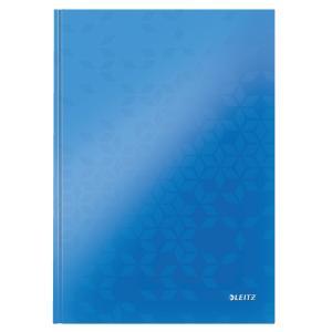 Záznamová kniha Leitz WOW A4 80 listov linajková modrá