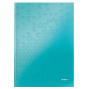 Záznamová kniha Leitz WOW A4 80 listov linajková ľadovo modrá