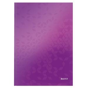 Záznamová kniha Leitz WOW A4 80 listov linajková purpurová