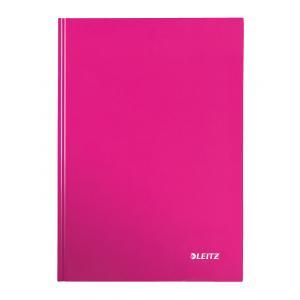 Záznamová kniha Leitz WOW A4 80 listov štvorčeková ružová