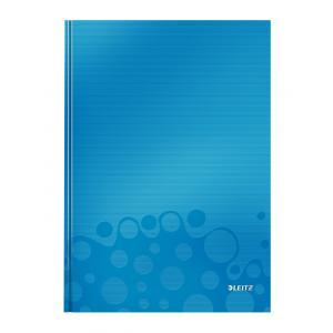 Záznamová kniha Leitz WOW A4 80 listov štvorčeková modrá