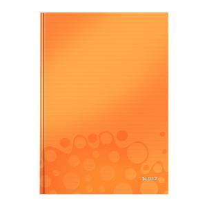 Záznamová kniha Leitz WOW A4 80 listov štvorčeková oranžová