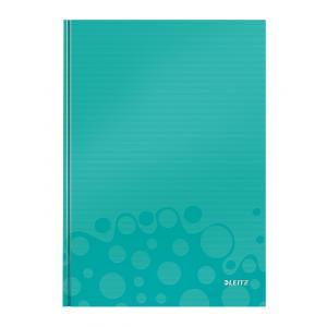 Záznamová kniha Leitz WOW A4 80 listov štvorčeková ľadovo modrá