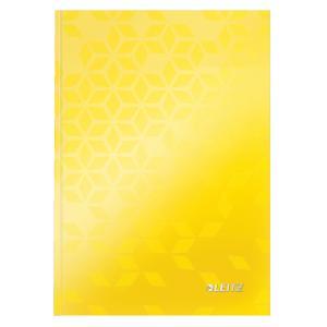 Záznamová kniha Leitz WOW A5 80 listov linajková žltá