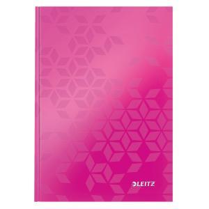 Záznamová kniha Leitz WOW A5 80 listov linajková ružová
