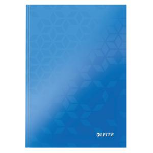 Záznamová kniha Leitz WOW A5 80 listov linajková modrá