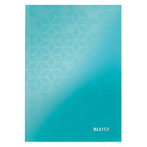 Záznamová kniha Leitz WOW A5 80 listov linajková ľadovo modrá