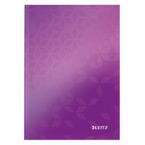 Záznamová kniha Leitz WOW A5 80 listov linajková purpurová