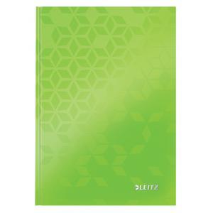 Záznamová kniha Leitz WOW A5 80 listov linajková zelená