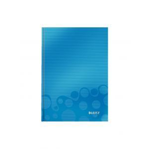 Záznamová kniha Leitz WOW A5 80 listov štvorčeková modrá