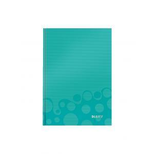 Záznamová kniha Leitz WOW A5 80 listov štvorčeková ľadovo modrá