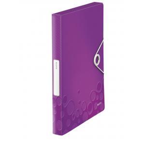 Plastový box s gumičkou Leitz WOW purpurový