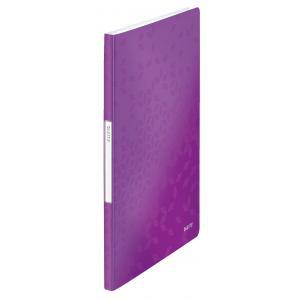 Katalógová kniha 20 Leitz WOW purpurová
