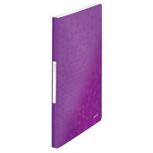Katalógová kniha 40 Leitz WOW purpurová
