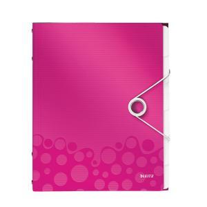 Triediaca kniha 6 Leitz WOW metalická ružová
