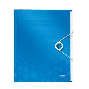 Triediaca kniha 6 Leitz WOW metalická modrá