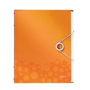 Triediaca kniha 6 Leitz WOW metalická oranžová