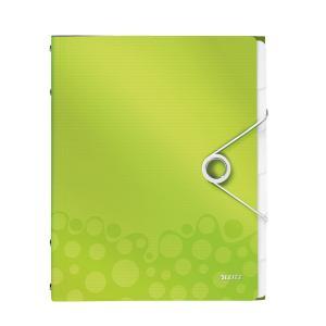 Triediaca kniha 6 Leitz WOW metalická zelená