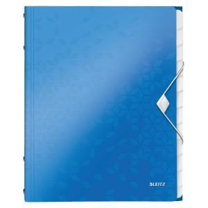 Triediaca kniha 12 Leitz WOW metalická modrá