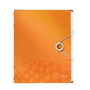 Triediaca kniha 12 Leitz WOW metalická oranžová