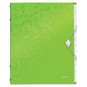 Triediaca kniha 12 Leitz WOW metalická zelená