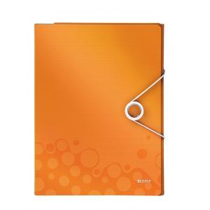 Organizér na dokumenty Leitz WOW metalický oranžový