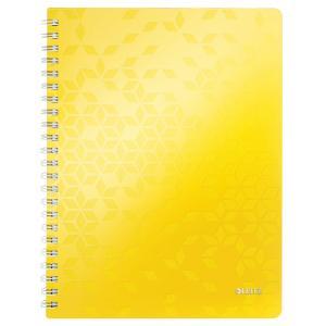 Blok poznámkový linajkový Leitz WOW A4 žltý