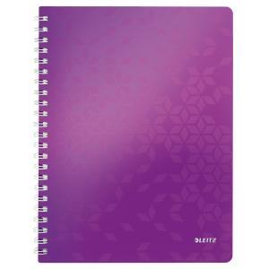 Blok poznámkový linajkový Leitz WOW A4 purpurový