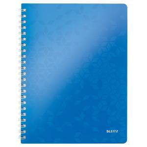 Blok poznámkový štvorčekový Leitz WOW A4 metalický modrý