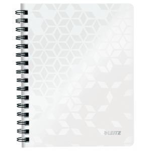 Blok poznámkový linajkový Leitz WOW A5 biely
